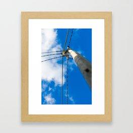 Light pole Framed Art Print