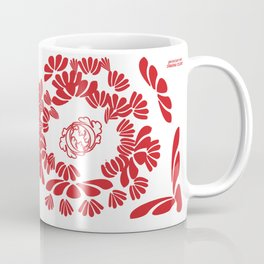 Geranium Red: strong women make strong families Coffee Mug