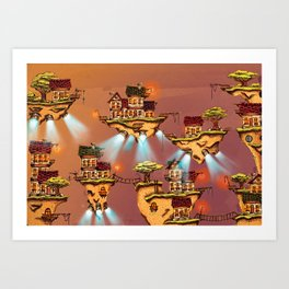 The floating islands Art Print