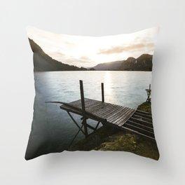 Salmon Sunrise Throw Pillow