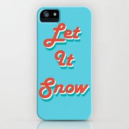 Retro Let it Snow iPhone Case
