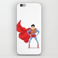 superman iPhone & iPod Skins featuring Superman by Bastonmag