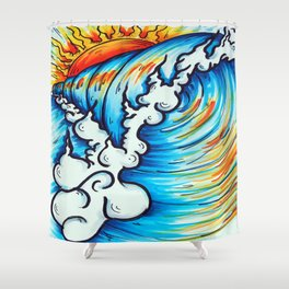 Sublime Wave  Shower Curtain