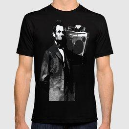 ABRAHAM LINCOLN INK SPLASH MAKE MUSIC NOT WAR T-shirt