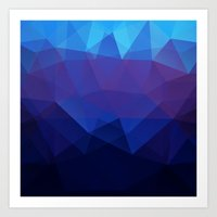 Blue abstract background Art Print