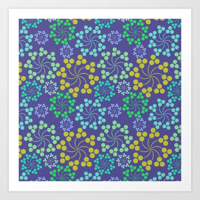 Fun Multicolored Whirligig Pattern Art Print
