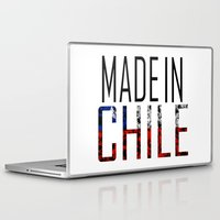 chile Laptop & iPad Skins featuring Made In Chile by VirgoSpice