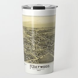 Aerial View of Fleetwood, Pennsylvania (1893) Travel Mug