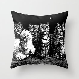 The Pack at Night Throw Pillow