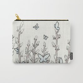 Blue Moth Pussy Willow Carry-All Pouch