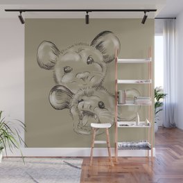 Two Sides to Every Possum Wall Mural