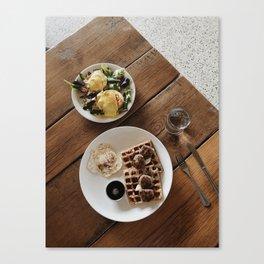 I Love Breakfast Canvas Print