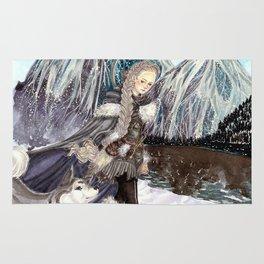 Goddess of Winter and Hunt Rug