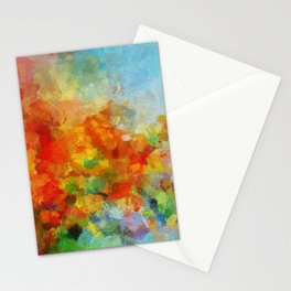 Abstract and Minimalist Landscape Painting Stationery Cards