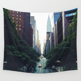 New York City Street Skyscapers Travel Wanderlust #tapestry Wall Tapestry