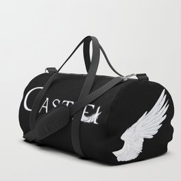 Castiel with Feather White Duffle Bag