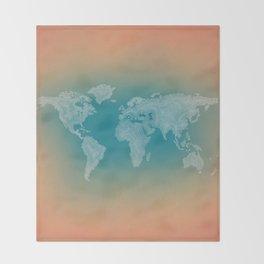 It's a Big ol' World - Pointilist Artwork Throw Blanket