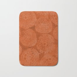 Tribal Terracota Rounds Bath Mat