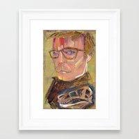john snow Framed Art Prints featuring John  by Liz Haywood