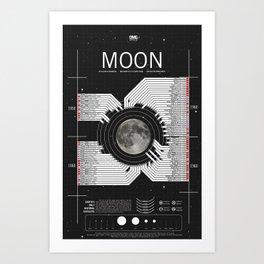 OMG SPACE: Moon 1950 - 1960 Art Print