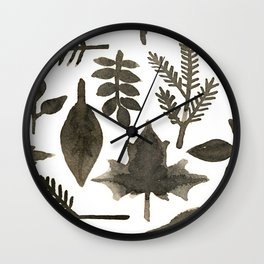 As the leaves Wall Clock