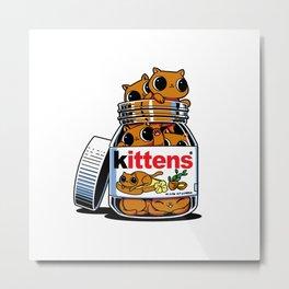 Nutella Cat Metal Print