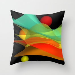 bicubic waves -4- Throw Pillow