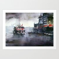istanbul Art Prints featuring ISTANBUL by Baris erdem