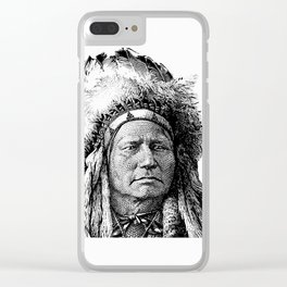 Chief Running Antelope - Native American History Clear iPhone Case