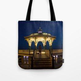 Brighton Bandstand at Night Tote Bag