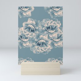 Blush Blue Peony Flower Bouquet #1 #floral #decor #art #society6 Mini Art Print