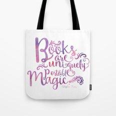 Books are Uniquely Portable Magic Tote Bag