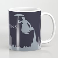 mary poppins Mugs featuring Mary Poppins by Citron Vert