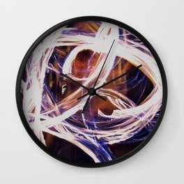 Fire Poi Wall Clock