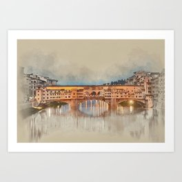 Firenze, Ponte Vecchio Art Print