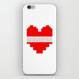 you are filled with determination iPhone Skin