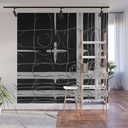 Monochrome Window Wall Mural
