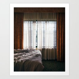 Hotel Room - Dallas, TX Art Print