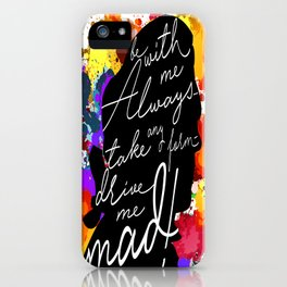 Wuthering Heights Quote iPhone Case