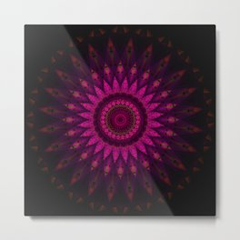 Stain glass Mandala Metal Print