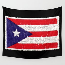 Puerto Rican flag Wall Tapestry