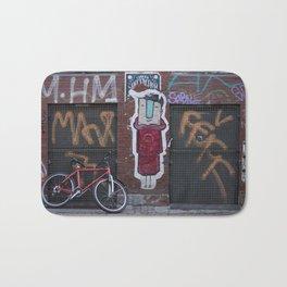 Copenhagen bike and street art Bath Mat