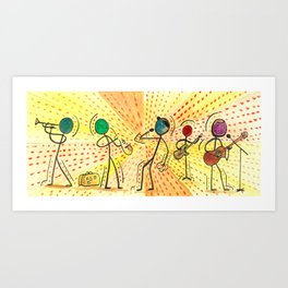 """#cagsticks """"The travellers Band"""" Art Print"""