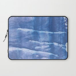 Steel blue clouded wash drawing paper Laptop Sleeve