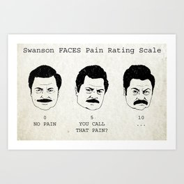 Swanson FACE Pain Rating Scale Art Print