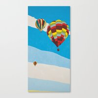 hot air balloons Canvas Prints featuring Three Hot Air Balloons by Shelley Chandelier