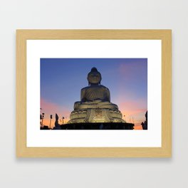Big Buddha at Sunset Phuket, Thailand Framed Art Print
