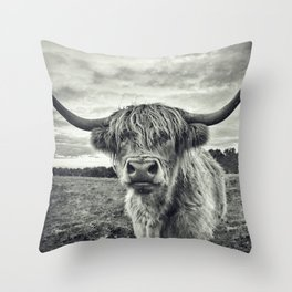Highland Cow II Throw Pillow