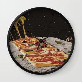 Sexy pizza Wall Clock
