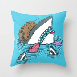 The Mom Shark Throw Pillow